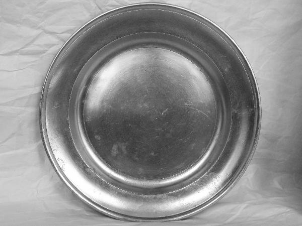 William Danforth Marked 8 3 4 American Pewter Plate Late